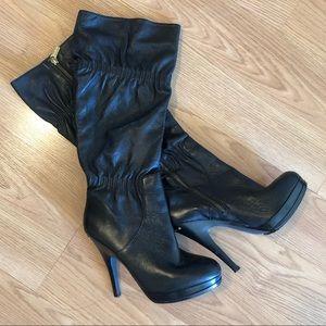 Michael kors 'webster' leather boots 6.5